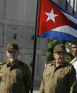 Ramiro Valdes (L) is Raul Castro's most likely successor in Cuba (AP)