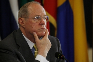 Supreme Court Justice Anthony Kennedy, considered the swing vote in the Prop 8 case.