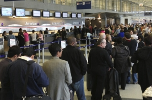Sequester cuts caused travel delays at airports across the country before Friday's congressional votes.